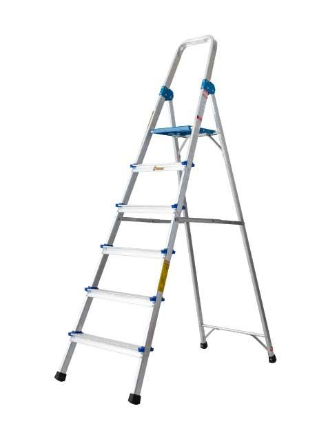 Aluminium Queen Ladder with Handrail 6 Steps (QL06)
