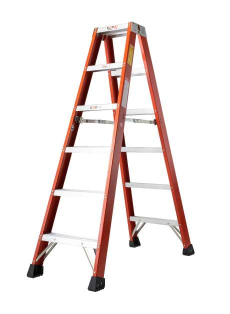 Fiberglass Double Sided A-Shape Ladder – 6 Steps (DFG06)