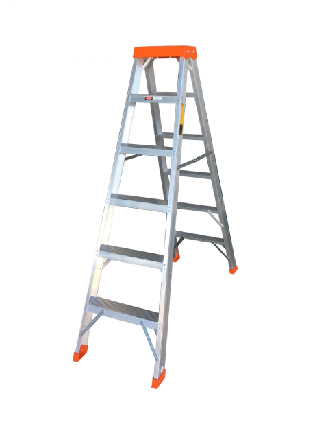 Aluminium Certified Double Sided Ladder – 6 Steps (CWDS-06)