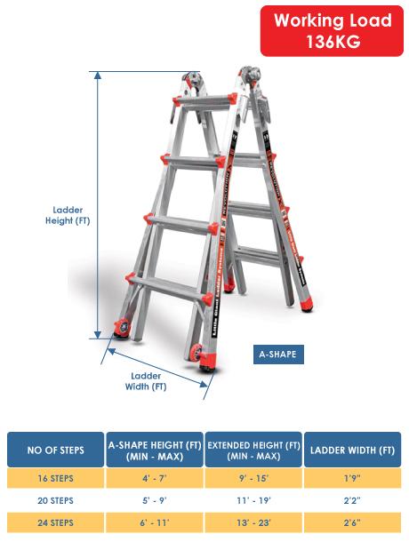 Aluminium Revolution XE Model Ladder 16 Steps (12017)