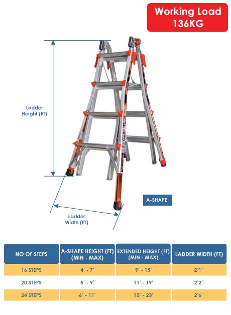 Aluminium Xtreme Model Ladder 24 Steps (12326)