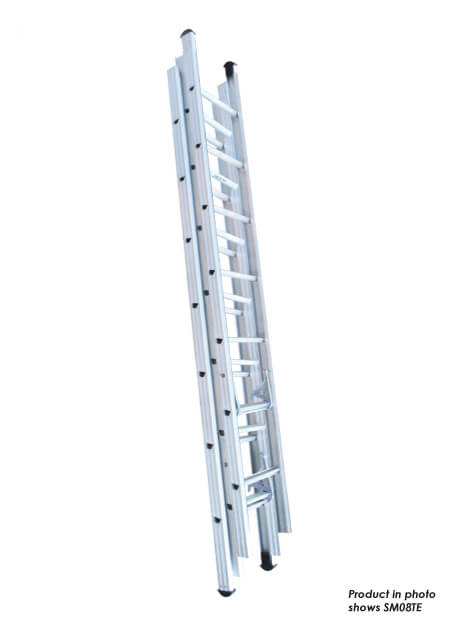 Aluminium Triple Extension Ladder – 33 Rungs (SM12TE)