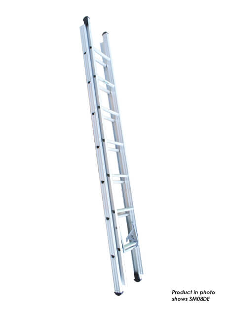 Aluminium Double Extension Ladder – 22 Rungs (SM12DE)