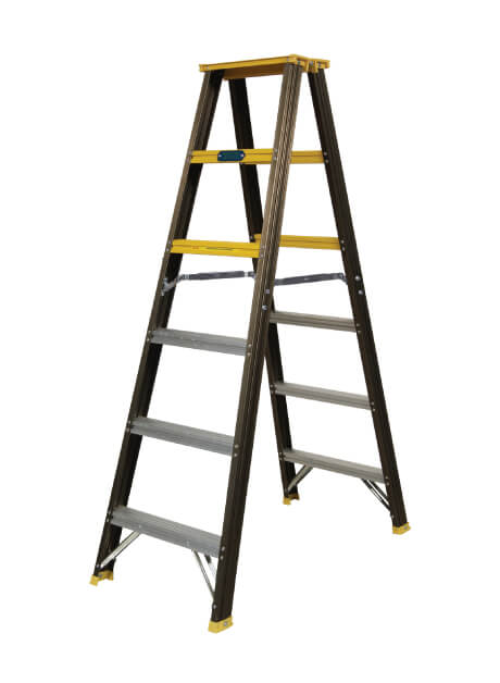 Aluminium Double Sided Ladder (Standard Used) 6 Steps (WDS 6)