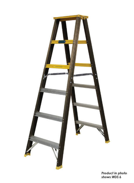 Aluminium Double Sided Ladder (Standard Used) 9 Steps (WDS 9)