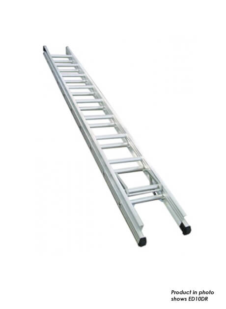 Aluminium Double Extension Ladder – 22 Rungs (ED12DR)