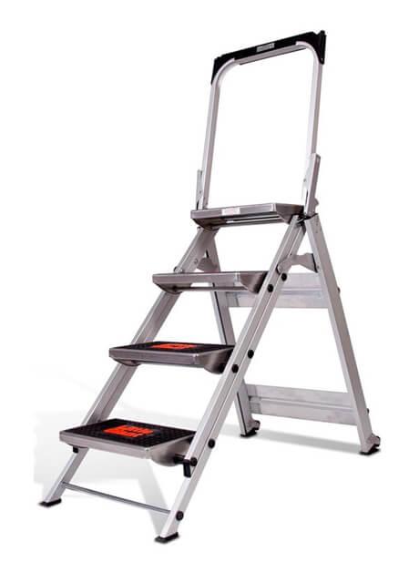 Aluminium Safety Step Ladder 4 Steps (10410B)