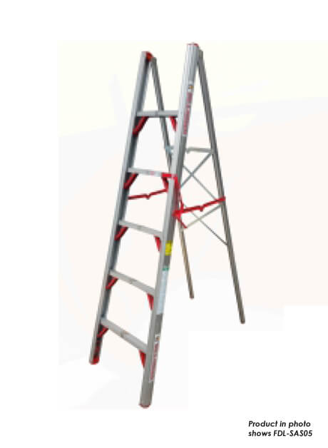 Aluminium Single Sided Folding Step Ladder 4 Steps (FDL-SAS04)