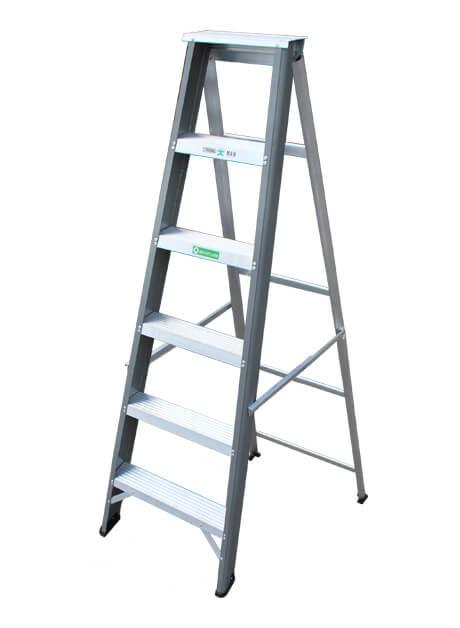 Aluminium Single Sided Heavy Duty Ladder – 6 Steps (SSHD 06)