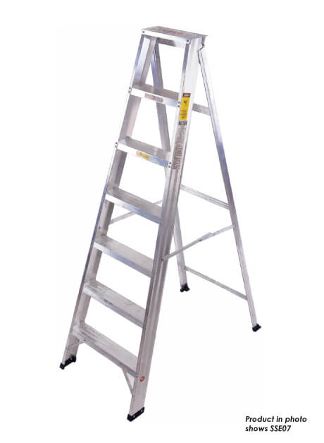 Aluminium Single Sided A Shape Ladder – 7 Steps (SSE07)