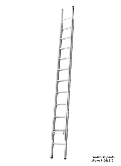 Aluminium Double Extension Ladder – 22 Rungs (P-DEL212)