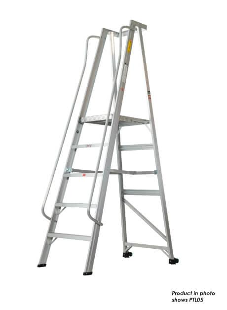 Aluminium Platform Trolley Ladder – 04 Step (PTL04)