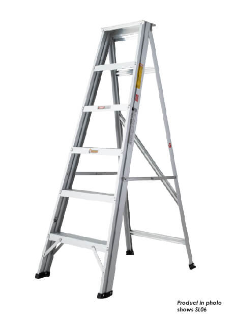 Aluminium Single Sided A Shape Ladder 9 Steps (SL09)