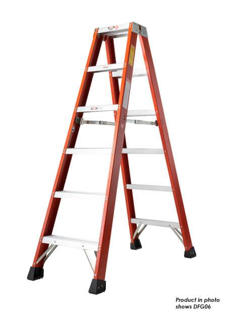 Fiberglass Double Sided A-Shape Ladder – 8 Steps (DFG08)