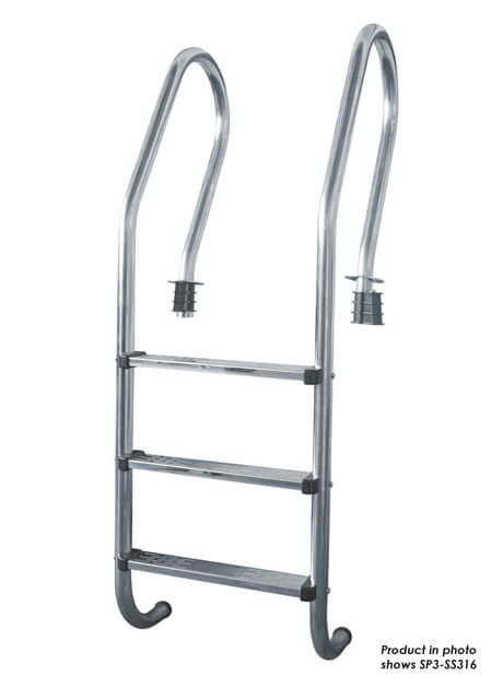 Stainless Steel (Grade 316) Swimming Pool Ladder 4 Steps (SP4-SS316)